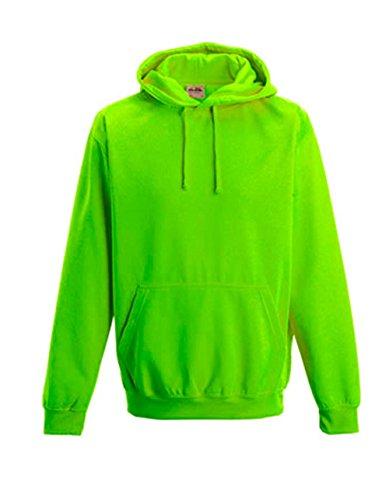 NEON Sweatshirt mit Kapuze HOODIE floureszierend versch. Farben und Größen von noTrash2003® Electric Green