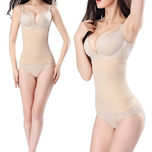 Zhhlaixing Schöne Körperform für Damen Seamless Postpartum Abdomen Belts Waist Trainer Breathable Girdle Postpartum Belly Wrap Shapewear for Women Beige