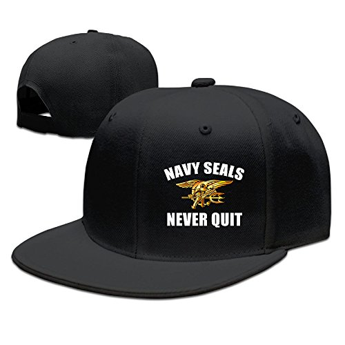 hittings-us-navy-seals-never-quit-adjustable-caps-flat-brim-baseball-hats-black