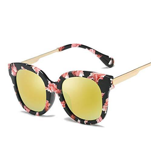 CASEY-L Polarisierte Sonnenbrille, Farbfilm Metal Trends Brille Unisex Mode Wild UV-Schutz New Outdoor Driving D