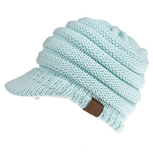 GUOSH Baseball Cap, Eröffnung Pferdeschwanz Hut, Herbst Und Winter Wollmütze, Lady 12 Farben Stil 7