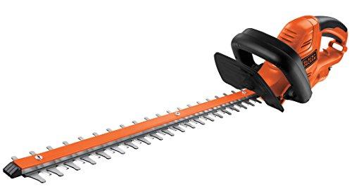 Black+Decker Elektro-Heckenscheren-Kit (500W, 55 cm Messerlänge, 22 mm Schnittlänge, komfortabler Bügelhandgriff, inkl. 10 m Verlängerungskabel und Messerschutz) GT5055CAKIT, schwarz orange