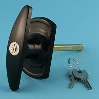 Universal Garage Door Black 'T' Handle Spares and Parts - low-cost UK door handle shop.
