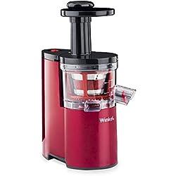 Winkel Extracteur de Jus de fruit et légumes vertical compacte 0,5L SX24 Centrifugeuse Sans BPA, Silencieux, Technologie pression douce, Rotation Lente, Puissante 200W, Système reverse, Anti-gouttes