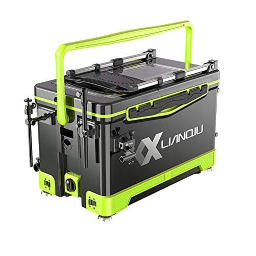 Z-Fishing box MENA Uk Multifunktions-Angelbox, Faltbare Und Bequeme RüCkenlehne, Anheben Der Vierbeinigen StandfüßE, Freie Installation Der 40l-Angelbox Mit GroßEr KapazitäT