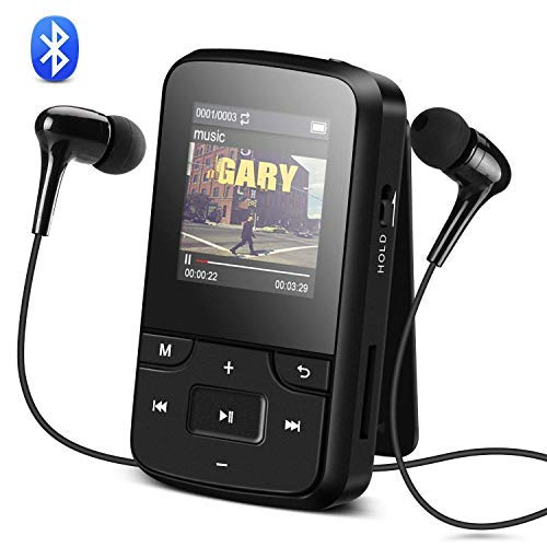 AGPTEK G6B Reproductor MP3 Bluetooth 8GB con Clip, Reproductor de Mús