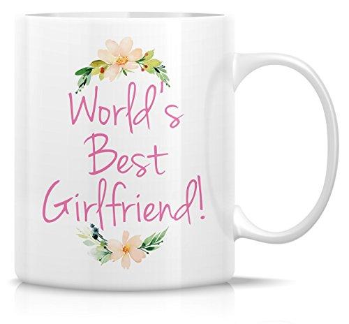 Retreez Funny Tasse-World 's Best Freundin. 11Oz Keramik Kaffee Becher-Lustige, Sarkasmus, Sarkastisch, motivierend, inspirierend Geburtstag Geschenke für Frau, Freundin, BFF, Freunde, Kollegen