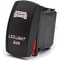 Eyourlife Interruptor de Palanca Interruptor Basculante de Balanc/ín de Encendido Apgado de LED Luz Barra Faro de Trabajo para Coche Fuera Carretera Barco Azul