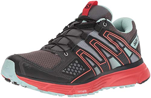 Salomon X-Mission 3 W, Zapatillas de Trail Running para Mujer, Gris/Rojo Magnet/Black/Poppy Red, 38...