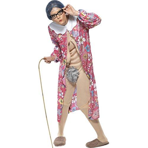 Schwerkraft Oma Kostüm mit Morgenmantel und Bodysuit, Medium