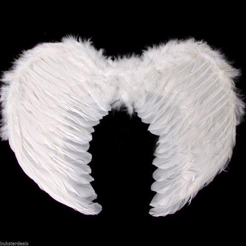 Kostüm Ange Fille - Bukster Uk LTD Ailes d'ange en plumes blanches déguisement pour garçon et fille