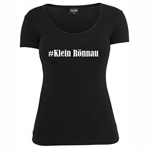 T-Shirt #Klein Rönnau Hashtag Raute für Damen Herren und Kinder ... in den Farben Schwarz und Weiss Schwarz