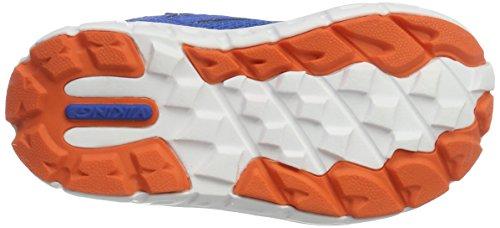 Viking Hobbit Mid Gtx, Chaussures de Fitness mixte enfant Blau (Royal/Orange)