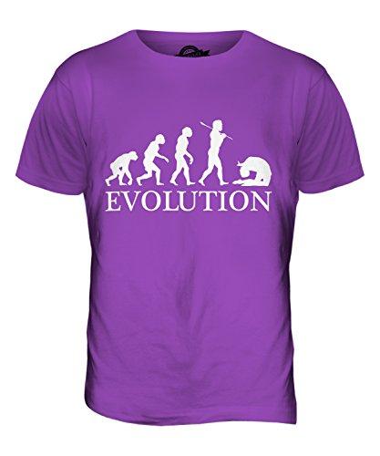 CandyMix Acro Evolution Des Menschen Herren T Shirt Violett