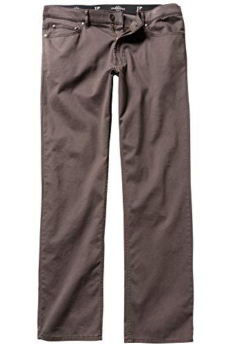 JP 1880 Herren große Größen bis 66, 5-Pocket-Hose, Regular Fit, Zipper, Gürtelschlaufen, Minimalmuster, Baumwolle Dunkelbraun 54 711455 30-54