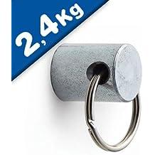 /Ø 17 x 22 mm SCHWARZ Starke Pinnwand Magnete mit Neodymkern f/ür K/ühlschrank Magnet Glasboards Magnettafel Pinnwand Whiteboard 4 x Griff-Magnet mit /Öse Haftkraft 3,5 kg NdFeB