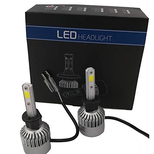 Lampadine h1 led Bulb 6500K 8000lm 72W H/L fari abbaglianti o anabaglianti per auto lampadine ad alte prestazioni,doppio fascio LED-migliore vibilità delle classiche lampadine alogene e xenon (h1)