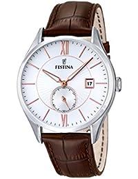 Festina Herren-reloj analógico de pulsera de cuarzo cuero F16872/2