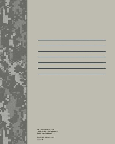 Acu Pattern College Ruled 150 Sheet 300 Page Composition Leader Book (Army Camouflage Pattern)