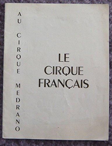 Programme cirque Medrano Au cirque français 1952