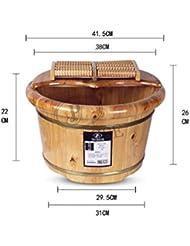 XWQ Pied Barrel / Santé Baignoire / Bois de cèdre Barils / Salle de bain Pied de bain / 26CM baignoire avec couvercle Massage