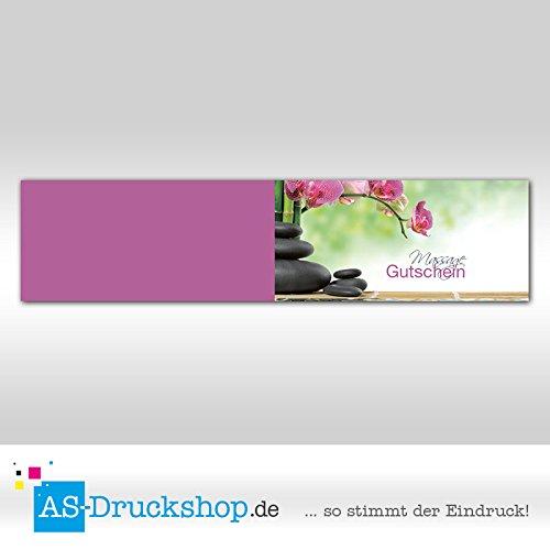 """Gutschein """"Massage – Orchidee"""" – Format: DIN Lang, 25 Stück"""