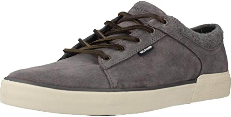 Tommy Hilfiger Willis 1B Sneakers Lacci Pelle Steel Grey FM56821539