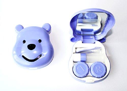 Kontaktlinsenbehälter Spiegel (Kontaktlinsenbehälter Aufbewahrungsbehälter Etui Set Spiegel süße Winniepooh Violett)