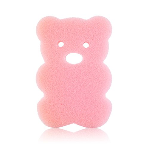 AOTUOTECH:1pc Esponja de baño para bebé recién Nacido Cepillo de baño Rubbing Toalla, Rosa, 10 * 7 * 2.5cm