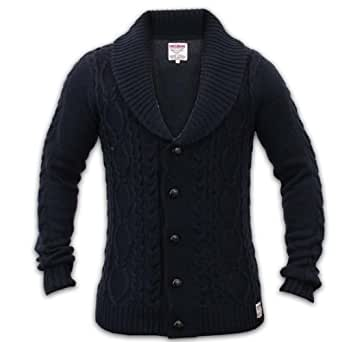 Men's Threadbare Cardigan IMS042 Navy X Large