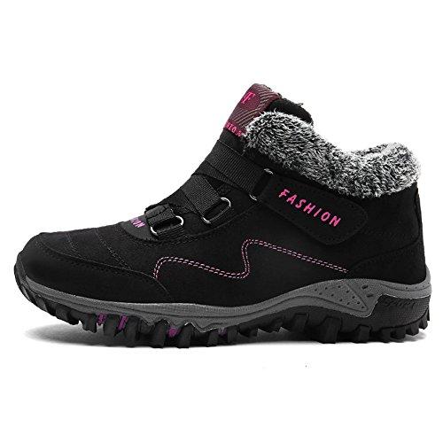 GOMNEAR Hommes & Femmes Chaud Cheville Bottes Hiver ExtéRieure Chaussures Neige Chaussures Plates Antidérapantes Élevé