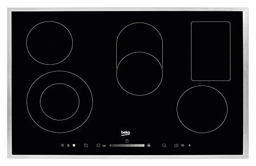 Beko-HIC-85502-TX-Elektro-Kochfeld-Ceran-Breite-77-cm-Touch-Slide-Sensortasten-Brter-Zweikreis-und-Warmhaltezone-Edelstahlrahmen