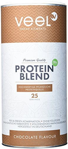 Vegan Protein Mix aus Erbsenprotein und Reisprotein | Hochwertiger Eiweiß-Shake pflanzlich vollständigem Aminosäuren-Spektrum | Proteinpulver mit Premium Qualität aus Deutschland – 750g – CHOCOLATE (Bio-soja-protein-isolat)