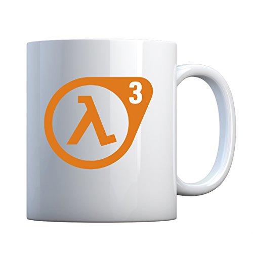 Indica Plateau Half Life 3 en céramique Mug cadeau 11oz blanc nacré