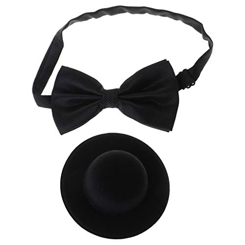 wenjuersty 1 Satz Baby Hut Bowtie Cap Krawatte Fotografie Kostüm Cosplay Neugeborenen Foto Gedenk Requisiten DIY Dekoration Funny Business Kids Supplies (Billig Halloween-kostüme Diy)