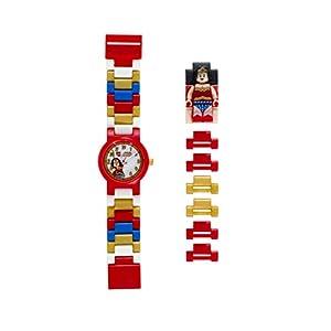 LEGO DC Comics Super Heroes 8020271 Orologio da polso componibile per bambini con cinturino a maglie e minifigure Wonder… LEGO DIMENSIONS LEGO