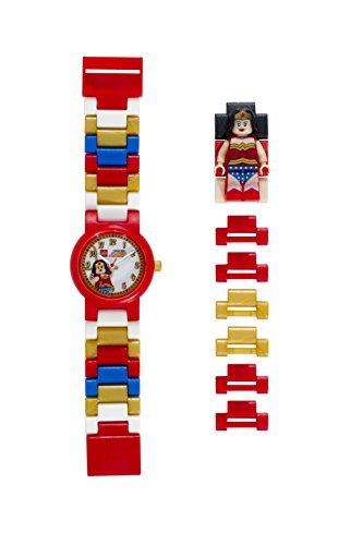 Reloj infantil modificable figurita Wonder Woman LEGO