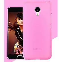 Prevoa ® 丨Meizu M2 Note Funda - Transparent Silicone TPU Funda Cover Case para Meizu M2 Note 5.5 Pulgadas Smartphone - Rosa