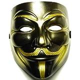 Máscara de Vendetta negra / oro