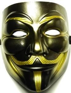 Nick and Ben Vendetta Maske Schwarz Gold Rarität!