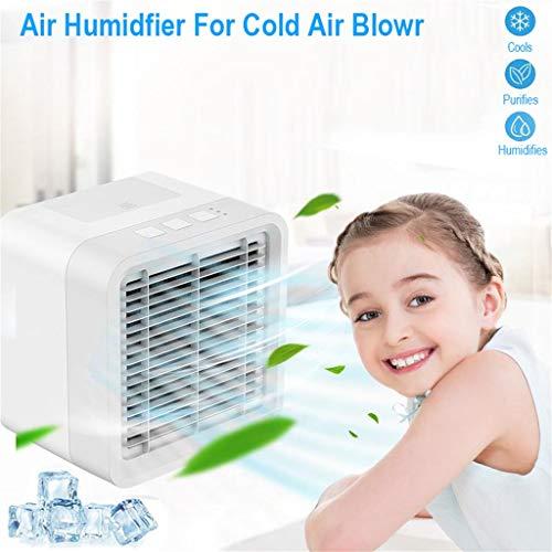 Webla Mini-Klimaanlage, tragbarer Aktivkohle-Ionisator mit Aromatherapie und Luftbefeuchter Luftkühler, Abs + Pc -