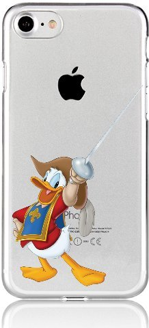 Blitz® DONALD DUCK Schutz Hülle Transparent TPU Cartoon Comic Case iPhone M11 iPhone 7PLUS M9