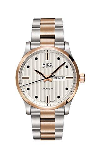 Mido Multifort m0054302203102–Montre pour Hommes, Bracelet en Acier Inoxydable Couleur Argent