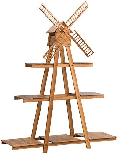 Echotang Bambus Blumenständer Multilayer Blumentopf Display Regal Rack Windmühle Lagerregal,...