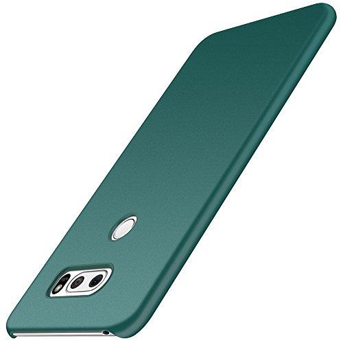 anccer LG V30/LG V30 Plus/LG V30S ThinQ/LG V35/LG V35 ThinQ Hülle, [Serie Matte] Elastische Schockabsorption & Ultra Thin Design für LG V30/LG V30 Plus/LG V30S ThinQ/LG V35/LG V35 ThinQ (Kies Grün)