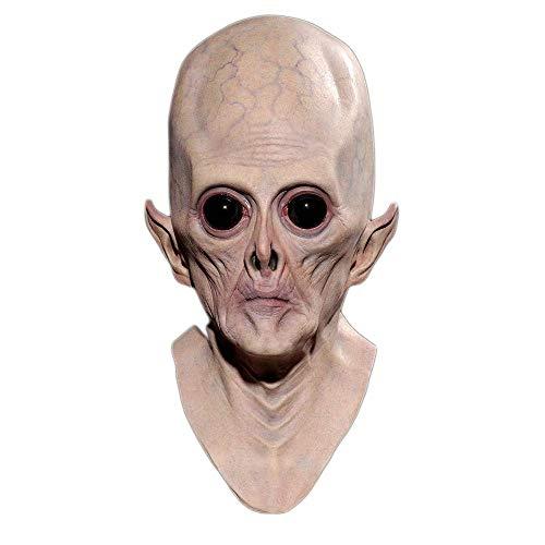 n Maske Horror Alien Maske Schädel Party Scary Spectre Diviner Zombie Dead Zombie Devil Maske Cosplay Realistische Requisiten ()