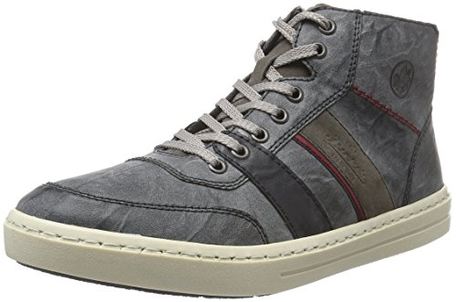 Rieker 30934, Sneakers Hautes Homme Gris (Rauch/River/Wine/Fumo/45)