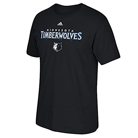 NBA Minnesota Timberwolves Men's Meshing Around Short Sleeve Tee, 4X, Black