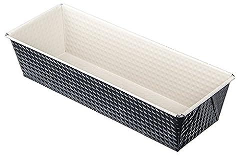 Zenker 7818 Noir Kastenform, Stahl, anthrazit / creme, 30,5 x 11,5 x 7 cm (Backblech Vanillekipferl)