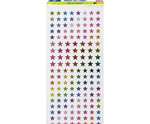 Metallic-Sticker 10x23cm - Rainbow Stars, Docrafts, Einfach, Scrapbooking Papier -